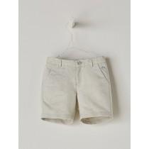 NANOS 米色棉麻短褲