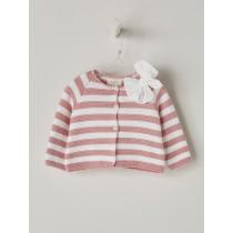 NANOS 粉色條紋針織外套