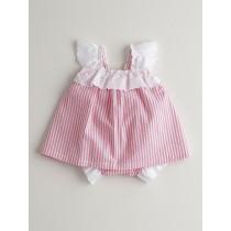 NANOS 粉色條紋蕾絲套裝