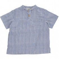 OLIVIER BABY AND KIDS 藍白條紋休閒襯衫