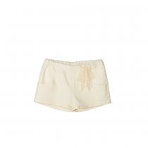 NANOS 蕾絲蝴蝶結白色短褲