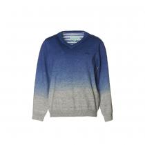 NANOS 藍色漸層薄毛衣