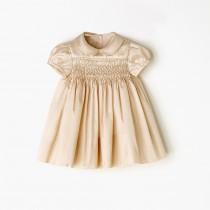 NANOS 粉膚色緞面澎澎裙洋裝