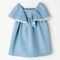 NANOS 天空藍蝴蝶袖洋裝