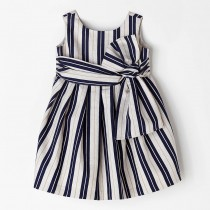 NANOS 英式條紋綁帶洋裝
