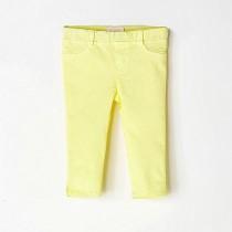 NANOS 鵝黃色棉質長褲