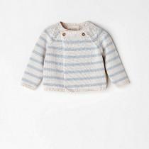 NANOS 藍白針織棉質外套