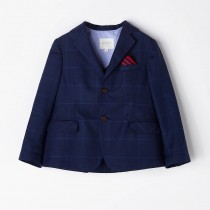 NANOS 小紳士格紋西裝外套
