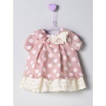NANOS 粉色圓點洋裝