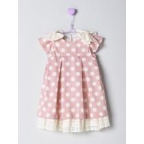 NANOS 粉色圓點洋裝-GIRL