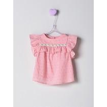 NANOS 粉色蝴蝶袖上衣-Baby