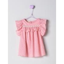 NANOS 粉色蝴蝶袖上衣