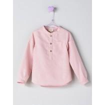 NANOS 粉色長袖襯衫