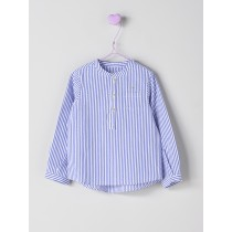 NANOS 藍色線條襯衫