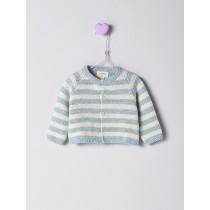 NANOS 粉藍條紋針織外套