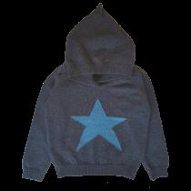 OLIVIER BABY AND KIDS 深藍星星喀什米爾連帽毛衣(100% CASHMERE)