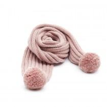NANOS 甜心粉羊毛圍巾