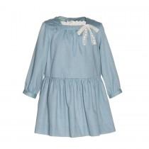 NANOS 天空藍七分袖洋裝