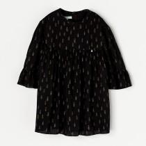 NANOS 聖誕樹圖騰黑色洋裝