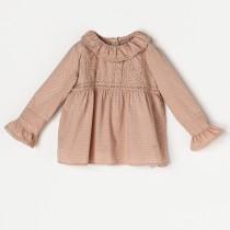 NANOS 蜜桃粉蕾絲上衣