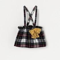 NANOS 甜心格紋吊帶裙
