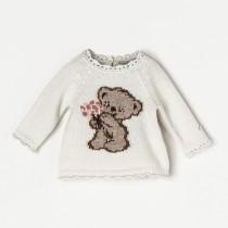 NANOS 白色小熊毛衣