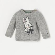 NANOS 灰色白兔毛衣
