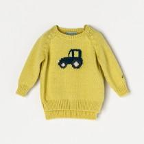 NANOS 黃色小汽車毛衣