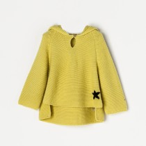 NANOS 黃色星星連帽毛衣