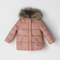 NANOS 粉色鋪棉連帽外套