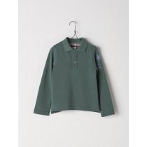 NANOS 綠色長袖Polo衫