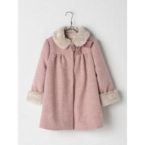NANOS 粉色毛領大衣
