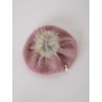 NANOS 玫瑰粉貝蕾帽