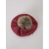 NANOS 紅色貝蕾帽