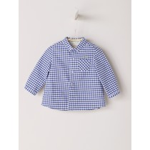 NANOS 藍色格紋襯衫