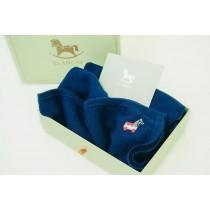 Roly Pony 藍色美麗諾羊毛毯禮盒