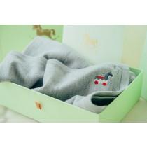 Roly Pony 灰色美麗諾羊毛毯禮盒