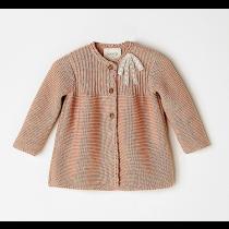 NANOS 粉色長版針織外套