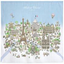 Atelier Choux Paris 有機棉包巾-巴黎鐵塔