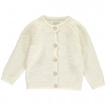OLIVIER BABY AND KIDS 夏綠蒂公主米白色喀什米爾針織外套(100% CASHMERE)
