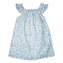 MILE BEBE 純棉藍色小花洋裝