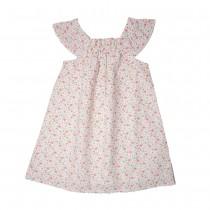 MILE BEBE 純棉粉色小花洋裝