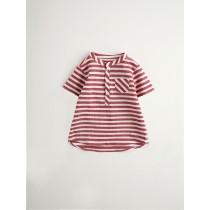 NANOS 紅色條紋短袖上衣-BOY