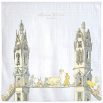 ATELIER CHOUX PARIS 有機棉包巾-MONSTERS CROSSING 包巾