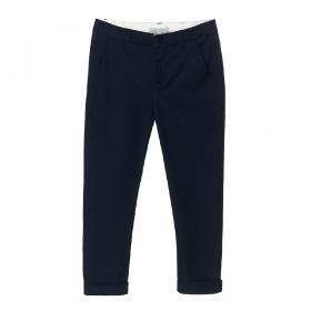 NANOS 深藍色經典款棉質長褲